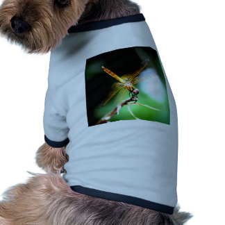yellow dragonfly peace joy dog t-shirt