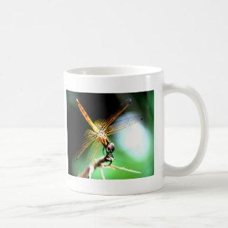 yellow dragonfly peace joy coffee mug