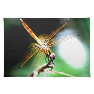 yellow dragonfly peace joy placemats