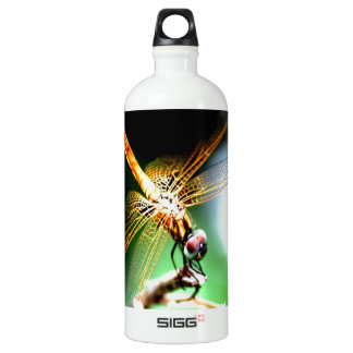 yellow dragonfly peace joy SIGG traveler 1.0L water bottle