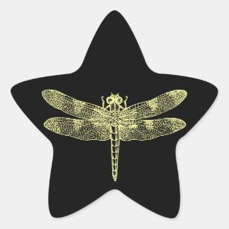 Yellow Dragonfly Sticker
