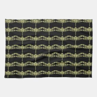Yellow Dragonfly Tea Towel