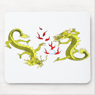 Yellow Dragons Mousepad