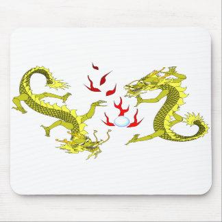 Yellow Dragons Mousepad