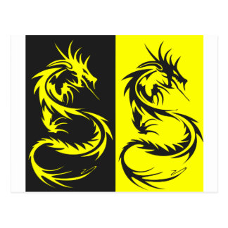 Yellow Dragons Postcard