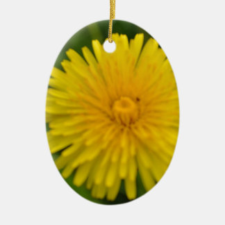 Yellow dreams ceramic oval decoration