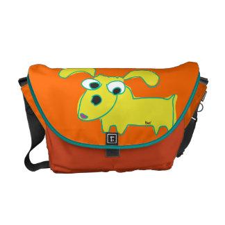 Yellow Droopy Ear Dog Orange Messenger Bag