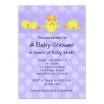 Yellow Duck Baby Shower Invitation 13 Cm X 18 Cm Invitation Card
