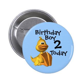 Yellow Duck Birthday Boy 2 Pinback Buttons