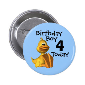 Yellow Duck Birthday Boy 4 Pins