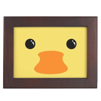 Yellow Duck Cute Animal Face Design Keepsake Box