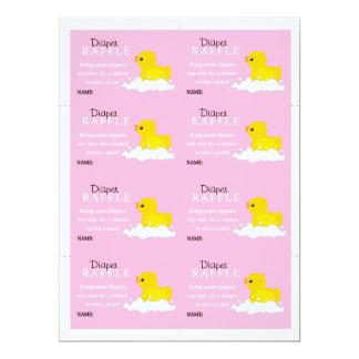 Yellow Duck Diaper Raffle 17 Cm X 22 Cm Invitation Card
