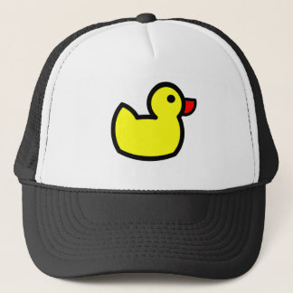 Yellow Duck Drawing Trucker Hat