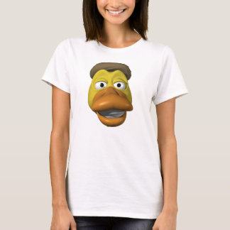 Yellow duck face smiley face T-Shirt