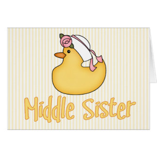 Yellow Duck Middle Sister Note Card