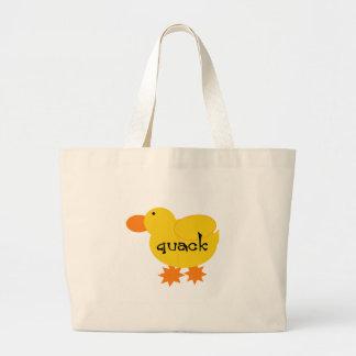 Yellow Duck Quack Large Tote Bag