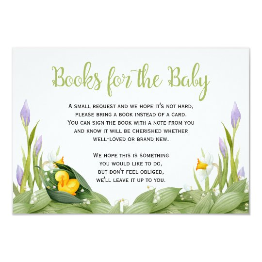 Yellow Duck Spring Books for Baby Request Card