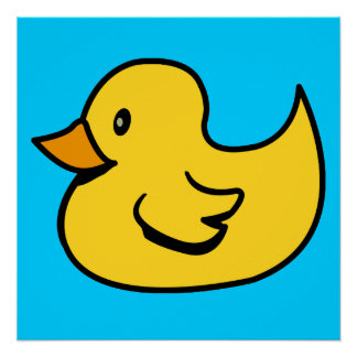 Yellow Duck Perfect Poster