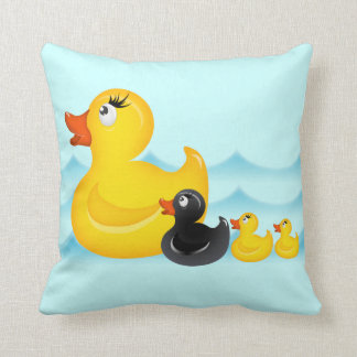 Yellow Duckies American MoJo Pill Throw Cushions