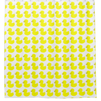 Yellow Duckies Shower Curtain