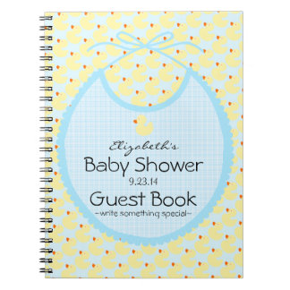 Yellow Ducks and Blue Baby Baby Shower Guest Book