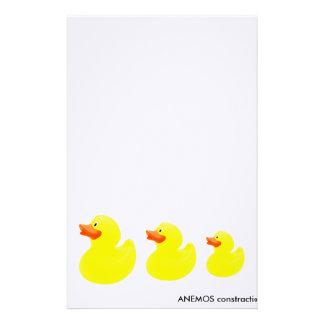 yellow ducks stationery
