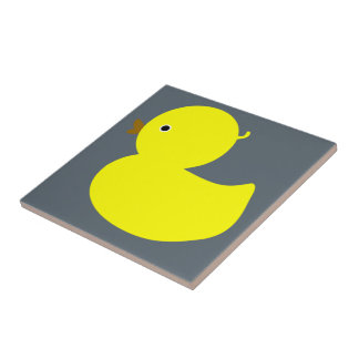 Yellow Ducky Small Square Tile