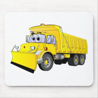 Yellow Dump Truck Cartoon Mousepads
