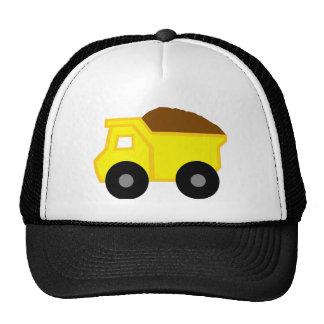Yellow Dump Truck Hats