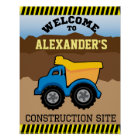 Yellow Dump Truck Welcome Sign