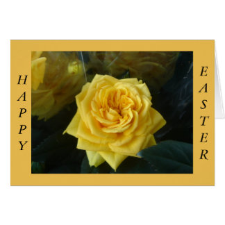 Yellow Easter rose Greeting Card