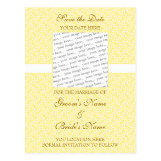 Yellow Eggshell Save the Date Postcard