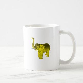 Yellow Elephant Basic White Mug