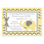 Yellow Elephant Bird Bring a Book Card Pack Of Chubby Business Cards
