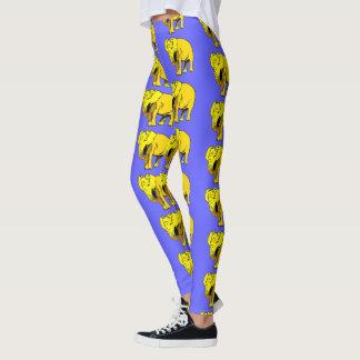 Yellow Elephant Leggings