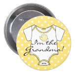 Yellow Elephant With Polka Dots I'm The Grandma 7.5 Cm Round Badge