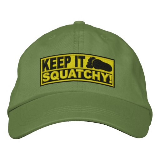 Yellow *EMBROIDERED* Keep It Squatchy! - Bobo's Embroidered Baseball Caps