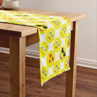 Yellow Emoji Pattern Short Table Runner