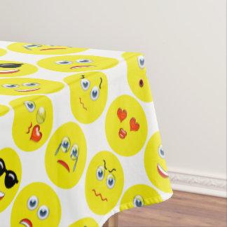 Yellow Emoji Pattern Tablecloth