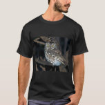 Yellow Eyed Eastern Screech Owl at Midnight T-Shirt