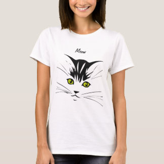 Yellow Eyed Meow Cat T-Shirt