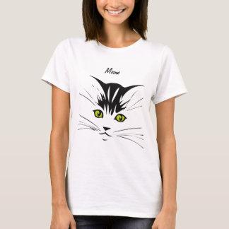 Yellow Eyed Meow Cat T-Shirt