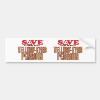 Yellow-Eyed Penguin Save Bumper Sticker