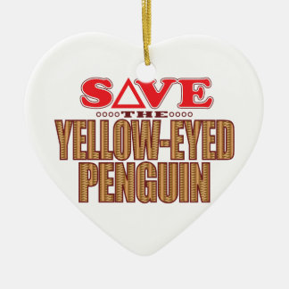 Yellow-Eyed Penguin Save Christmas Ornament
