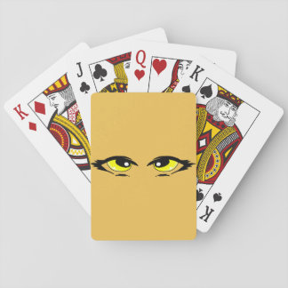 Yellow eyes playing cards