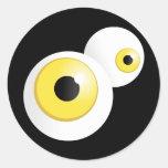 Yellow Eyes Round Sticker