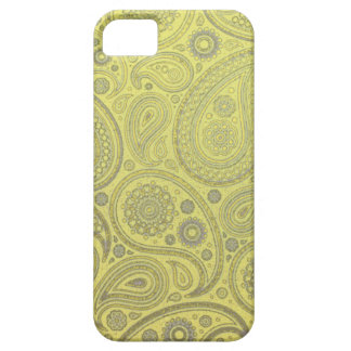 Yellow fabric paisley pattern case for the iPhone 5