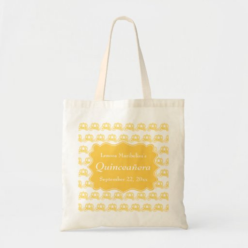 Yellow Fairytale Carriages Quinceanera Bags