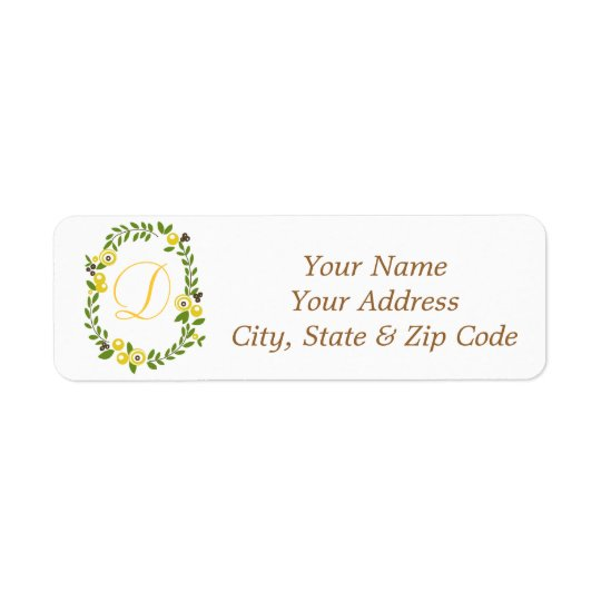 Yellow Fall Floral Address Labels