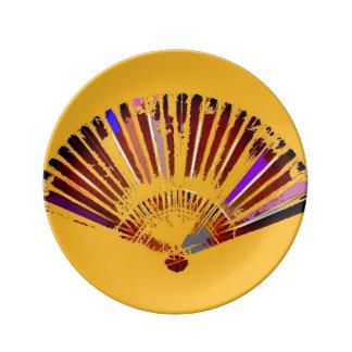 Yellow Fandango Decorative Plate